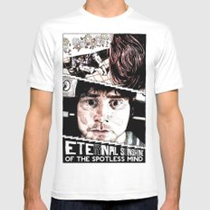Eternal Sunshine of the Spotless Mind by Aaron Bir Mens Fitted Tee MEDIUM White