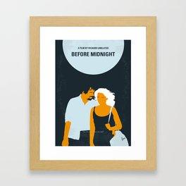 No1013 My Before Midnight minimal movie poster Framed Art Print