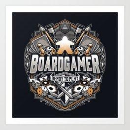 BOARD GAMER Art Print