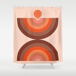 Abstraction_SUN_Rainbow_Minimalism_002 Shower Curtain