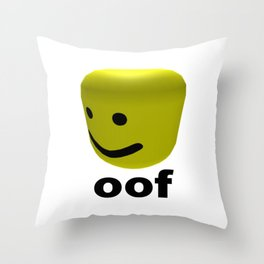 Roblox Oof - Roblox Throw Pillow