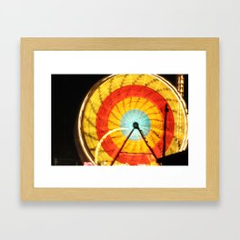 Wheel of light Framed Art Print