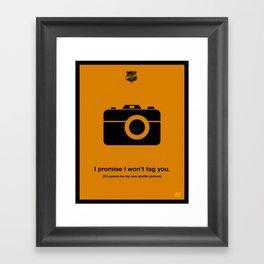 Profile Picture Framed Art Print