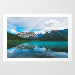 The Mountains and Blue Water - Nature Photography Art Print