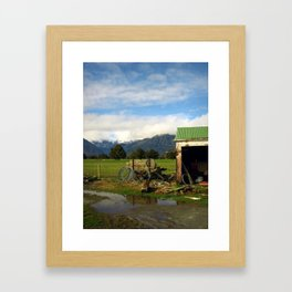 New Zealand Pasture Framed Art Print