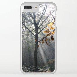 Autumn Sunbeams Clear iPhone Case
