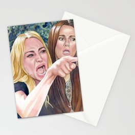 Woman yelling at cat meme #17 Stationery Cards