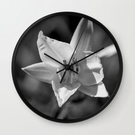 Clivia Black & White Photograph Wall Clock