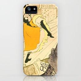 """Henri de Toulouse-Lautrec """"Jane Avril"""" iPhone Case"""