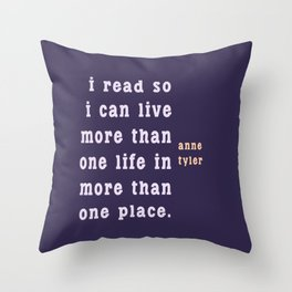 I read so I can live... Throw Pillow
