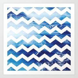 Ocean Chevon Art Print