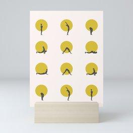 sun salutation I Mini Art Print