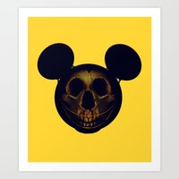 mickey Art Prints featuring Mickey by nicebleed