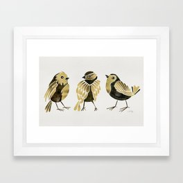 24-Karat Goldfinches Framed Art Print