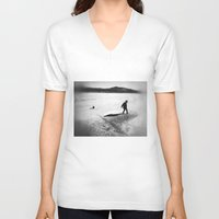 wild things V-neck T-shirts featuring Where The Wild Things... by Wolf Feather