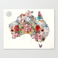 australia Canvas Prints featuring Australia by bri.buckley
