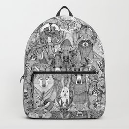 canadian animals black white Backpack
