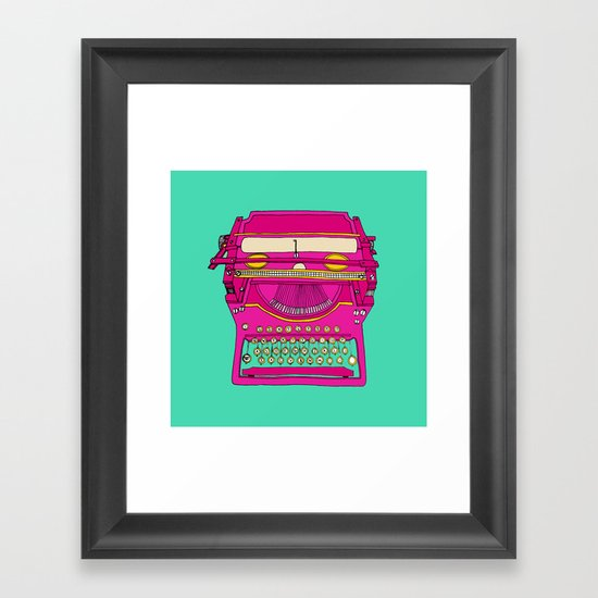 Typewriting // Retro Framed Art Print