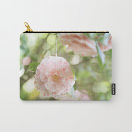 Pink and Green Camillia Carry-All Pouch