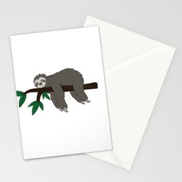 Sloth soul mate Funny Gamer Lazy Gift Stationery Cards