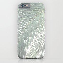 Faded Palm Leaves iPhone Case