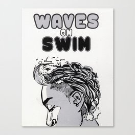 Waves on Swim Canvas Print