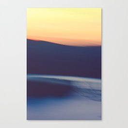 Mountain Sunrise Over Lake - Long Exposure Abstract Canvas Print