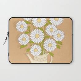bouquet of white camomiles in the vase Laptop Sleeve