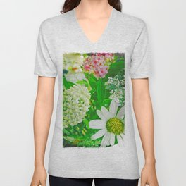 Summer Flower Bouquet Unisex V-Neck