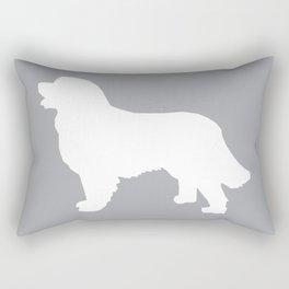 Bernese Mountain Dog silhouette grey and white minimal dog gifts Rectangular Pillow