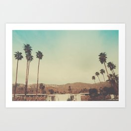 The View Palm Springs Art Print