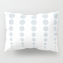 Up and down polka dot pattern in white and a pale icy gray Pillow Sham