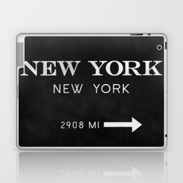 black watercolor new york new york Laptop & iPad Skin
