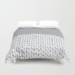 Half Knit Grey Duvet Cover