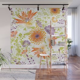 Floral print for spring Wall Mural
