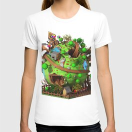 Cartoon Planet Train T-shirt