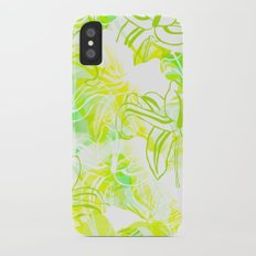 Green Flowers Slim Case iPhone X