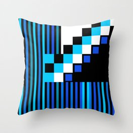Playing with Colors | Shapes | Black and White | I Feel Blue Throw Pillow