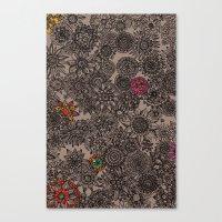 flower pattern Canvas Prints featuring Flower Pattern by Aubree Eisenwinter