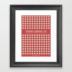 Enemy Among Us I Framed Art Print