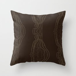 Disturbed Lines Throw Pillow