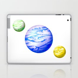 Illustration of watercolor round planet Laptop & iPad Skin