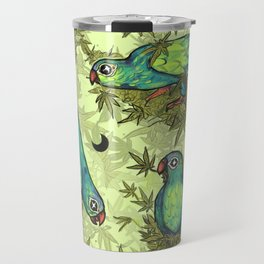 Parrots & Weeds Travel Mug