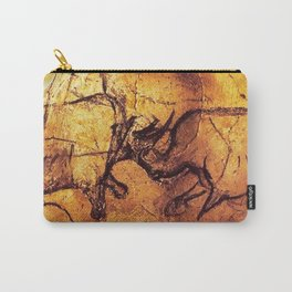 Fighting Rhinos // Chauvet Cave Carry-All Pouch