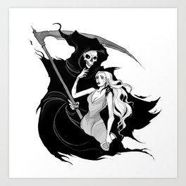 Inktober Grim Reaper Art Print