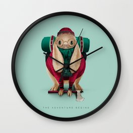 The Adventure Begins Wall Clock