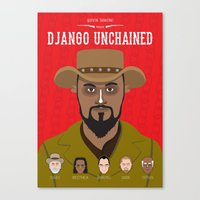 django Canvas Prints featuring Django by Mohac