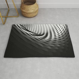 architecture black white Rug