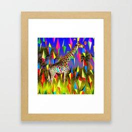 Groovy Giraffe  Framed Art Print