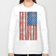 USA Vintage Wood Long Sleeve T-shirt